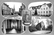 Postkarte Kirche Krankenhaus