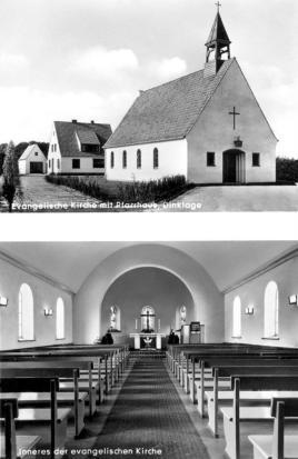 Postkarte Ev Kirche