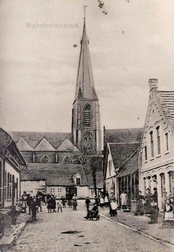 -19- die früher Bahnhofstraße genannte Straße Am Markt etwa um 1896