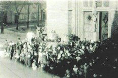 Eintreffen der neuen Glocken 1922, Foto: Krapp