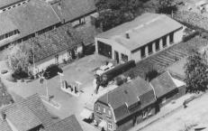 -32- Luftbild der Grundstücke Albermann, Kathmann und Bunse. Vor der Bebauung war hier eine landw. Nutzfläche, die von Kathmann genutzt wurde.