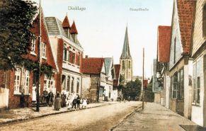 -211- linke Bildseite, links neben Nietfeld ist eine Baulücke, danach das Haus Kemme