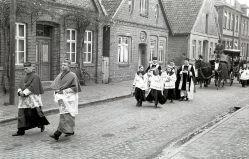 -219- Beerdigung Pastor Krone, gest. 28.02.1952, 1947-1952 in Dinklage