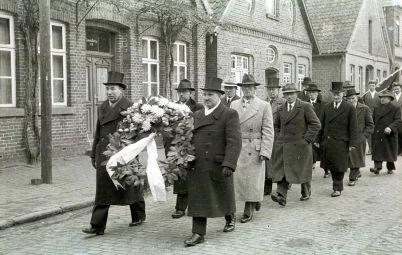 -217- Beerdigung Pastor Krone, gest. 28.02.1952, 1947-1952 in Dinklage