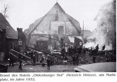 -15- der Oldenburger Hof brannte 1932 bis auf die Grundmauern ab