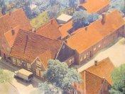 Blick auf die heutige Kreuzung Lange Straße/Ostendorfstraße mit der Gaststätte Straoten Ornd. ca. 50er Jahre aus dem Besitz von Michael Ryschka