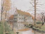 -14- Burg Dinklage 1947, Öl auf Leinen, ca. 60x50cm, Fr. Ruckes, im Besitz von Heinrich Fangmann