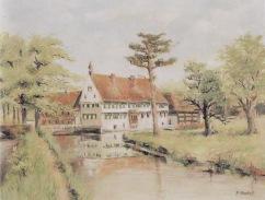 -17- Burg Dinklage 1960, Öl auf Leinen, ca. 70x60cm, Fr. Ruckes, im Besitz von Johanna Kreienborg