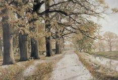 -45- Burgallee 1959, Öl auf Leinwand, ca. 130x90cm, Arnold Wilkens, Im Besitz von Leo Heil