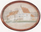 -13- Burg Dinklage, 1919, Aquarell, ca. 24x18cm, A.S.Kräder, im Besitz von Lucia Frerker