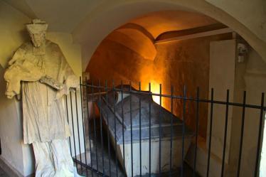 -60c- Familiengruft der Familie von Galen unter der Burgkapelle (Foto: C. Dressler)