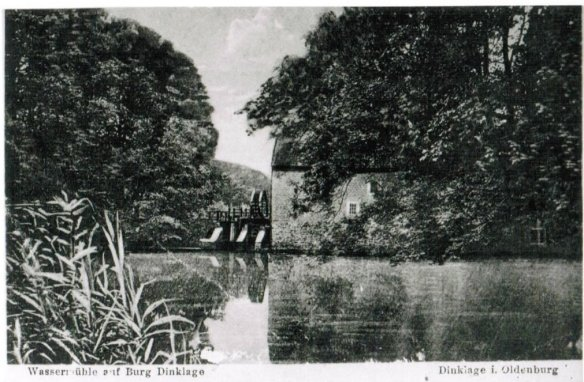 Wassermühle Burg Dinklage 1915 foto Bellersen