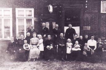 -47- Haus Fortmann um 1900, damals Lebensmittelgeschäft