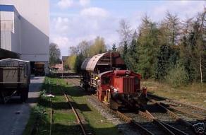 Bahnhofgelände in den 80ern