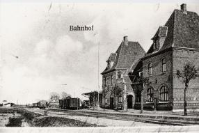 Postkarte Bahnhof