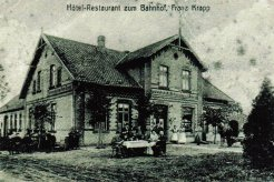 Postkarte Bahnhofshotel Krapp