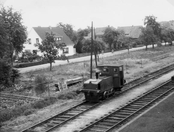 Diesel-Lok der Firma Holthaus, Foto Quill 16. August 1959