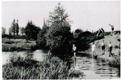 Alte Badeanstalt Hörst Schriewers Wiske (Hörstmanns wiese) 1958 foto Stüven Karl