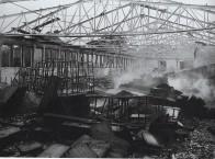1964 Die Oldenburger Möbelwerkstätten brennen ab. Der bis dahin größte Brand in der Geschichte der Freiwilligen Feuerwehr