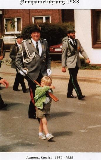 Kompaniechef der Rumm3elsburger Hans Carstens