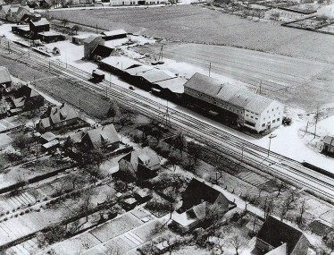 Bahngelände und Friedenstraße