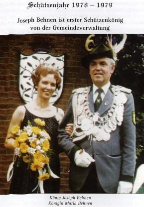 Schützenkönigspaar Josef und Maria Behnen