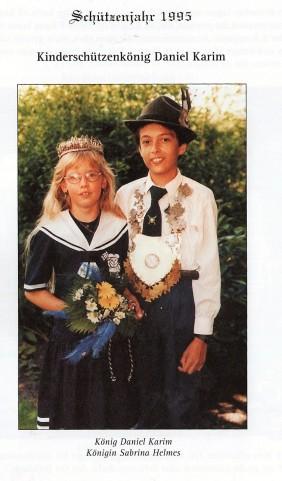 Daniel Karim und Sabrina Helmes als Kinderkönigspaar
