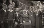 Silberhochzeit von Joseph und Maria Schlinkert , mit Kindern, auf Burg Dinklage 1933