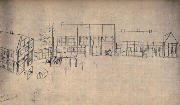 Zeichnung der Doonporte