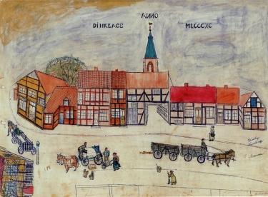 Doonporte um 1890 nach einer Zeichnung von Johann Niemann (Tempel-Jan)