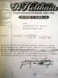 Auch das gehört zur Geschichte Dinklages: Im nationalsozialistischen Musterbetrieb Holthaus hatten Regimegegner keine Platz